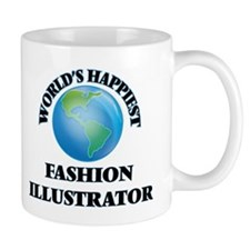 World's Happiest Fashion Illustrator Mugs