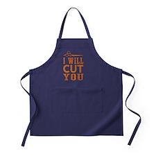 I Will Cut You Apron (dark)