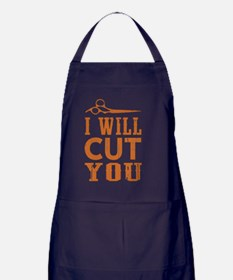 I Will Cut You Apron (dark)