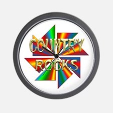 Country Rocks Wall Clock