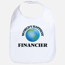 World's Happiest Financier Bib
