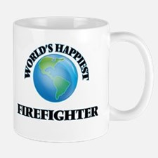 World's Happiest Firefighter Mugs