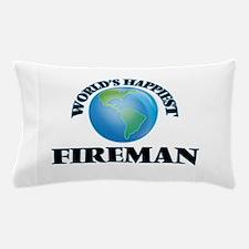 World's Happiest Fireman Pillow Case