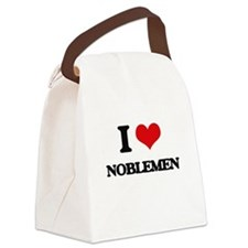 I Love Noblemen Canvas Lunch Bag