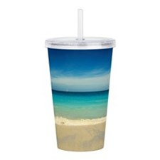 50 Shades of Blue Acrylic Double-wall Tumbler