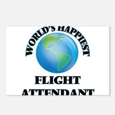 World's Happiest Flight A Postcards (Package of 8)