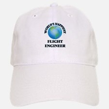 World's Happiest Flight Engineer Baseball Baseball Cap