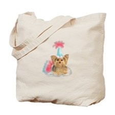 Birthday Yorkie Tote Bag