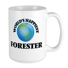 World's Happiest Forester Mugs