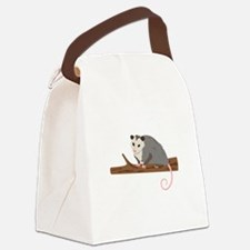 Opossum on Branch Canvas Lunch Bag