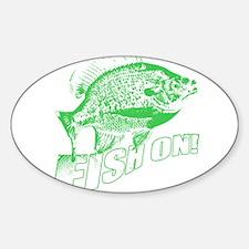 Bluegill Fish on Green Decal