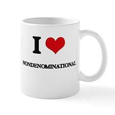 I Love Nondenominational Mugs