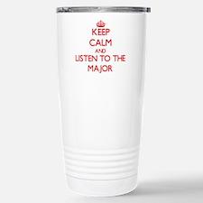 Cute Military wife keep calm Travel Mug