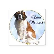 "Cute Saint bernard Square Sticker 3"" x 3"""