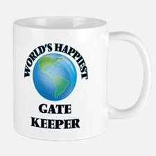 World's Happiest Gate Keeper Mugs
