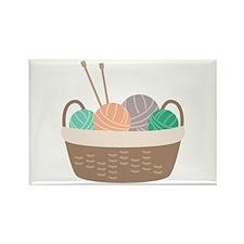 Knitting Basket Magnets