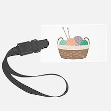 Knitting Basket Luggage Tag