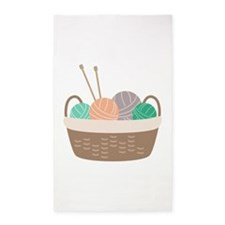 Knitting Basket Area Rug