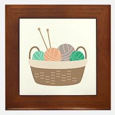 Knitting Basket Framed Tile