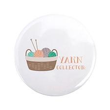 """Yarn Collector 3.5"""" Button"""