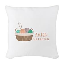 Yarn Collector Woven Throw Pillow