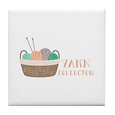 Yarn Collector Tile Coaster