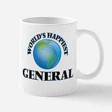 World's Happiest General Mugs