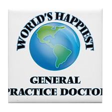 World's Happiest General Practice Doc Tile Coaster