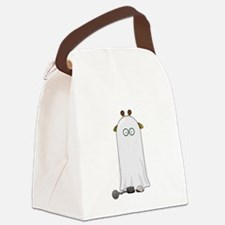 Giraffe dressed up as Ghost Canvas Lunch Bag