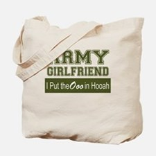 Cute Army girlfriend Tote Bag