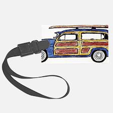 Dark Blue Woody Luggage Tag