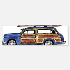 Dark Blue Woody Bumper Bumper Sticker