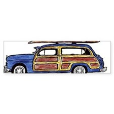 Dark Blue Woody Bumper Sticker