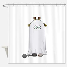Giraffe dressed up as Ghost Shower Curtain