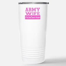 Army Wife Ooo in Hooah_ Travel Mug