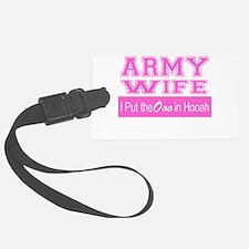 Army Wife Ooo in Hooah_Pink Luggage Tag