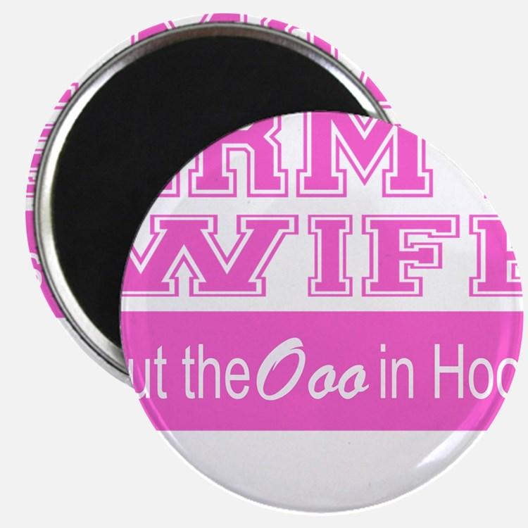 Army Wife Ooo in Hooah_Pink Magnets