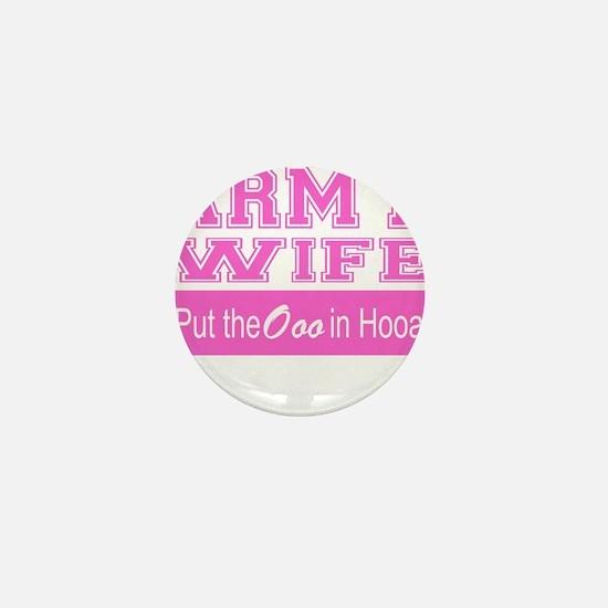 Army Wife Ooo in Hooah_Pink Mini Button