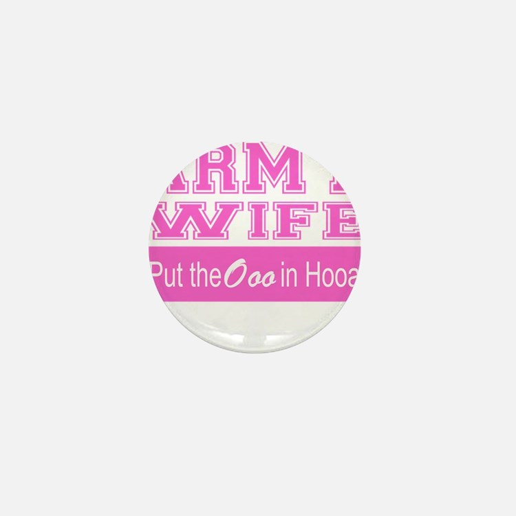 Army Wife Ooo in Hooah_Pink Mini Button (10 pack)