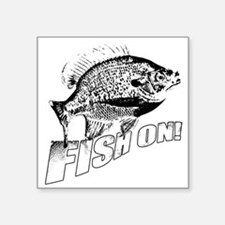 "Bluegill Fish on black Square Sticker 3"" x 3"""