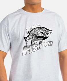 Bluegill Fish on black T-Shirt