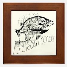 Bluegill Fish on black Framed Tile