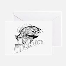 Bluegill Fish on black Greeting Card