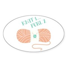 Knit 1 Purl 2 Decal