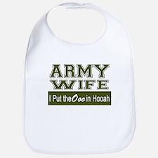Army Wife Ooo in Hooah_Green Bib