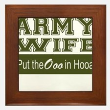 Army Wife Ooo in Hooah_Green Framed Tile