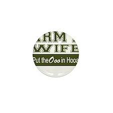 Army Wife Ooo in Hooah_Green Mini Button