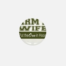 Army Wife Ooo in Hooah_Green Mini Button
