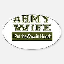 Army Wife Ooo in Hooah_Green Decal