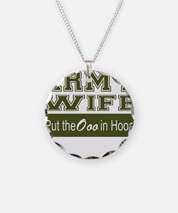 Army Wife Ooo in Hooah_Green Necklace